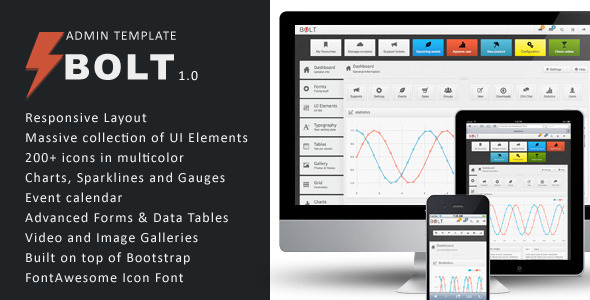Bolt Responsive Admin Panel Template for Developers