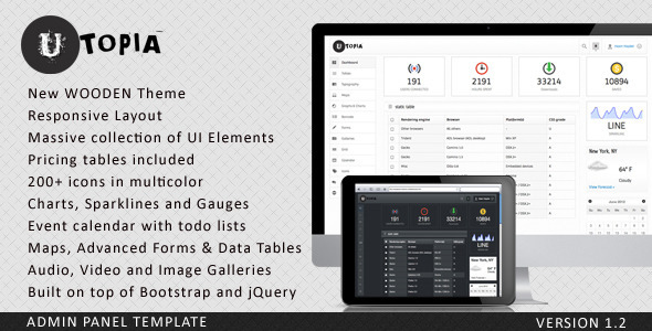 Utopia Dashboard Template by Themio