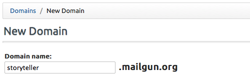 Configure your Mailgun Domain