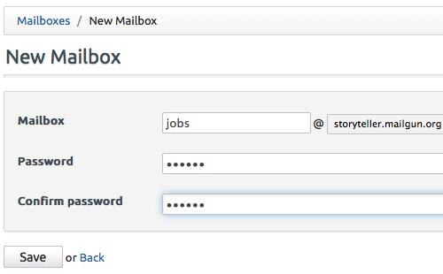 Creating new Mailbox